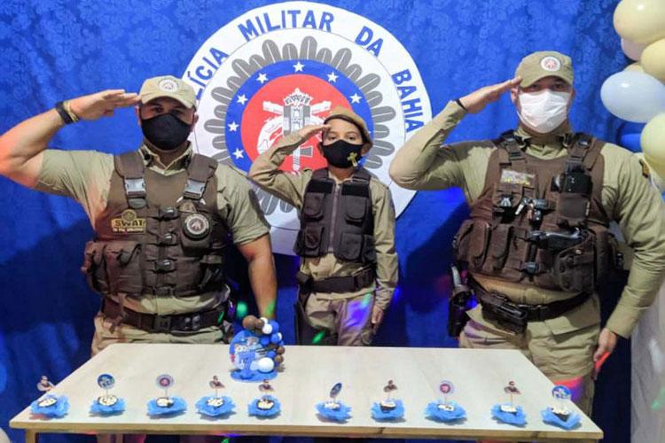 Ituaçu: Policiais Militares fazem surpresa em aniversário de criança de 7 anos