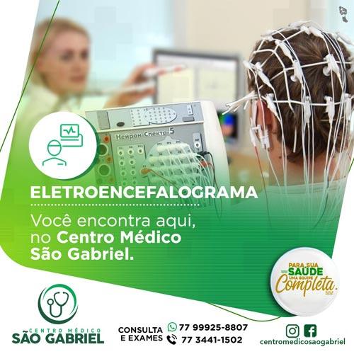 Eletroencefalograma Digital com mapeamento cerebral, no Centro Médico São Gabriel, em Brumado