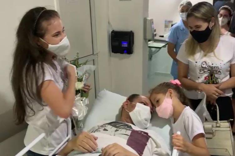 Covid-19: Hospital das Clínicas de Conquista destaca os 40 dias de luta do empresário brumadense Cidemar Aguiar