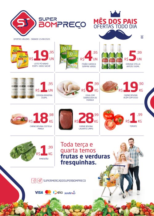 Confira as promoções deste sábado (15) no Supermercado Super Bom Preço em Brumado