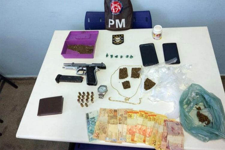 Guanambi: Casal é preso com arma e drogas