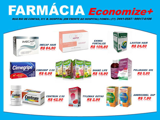 1d71acafc Confira os preços de produtos na Farmácia Economize+ - Achei Sudoeste